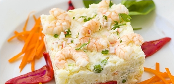 Prawn salad from Hotel La Catedral - Cadiz